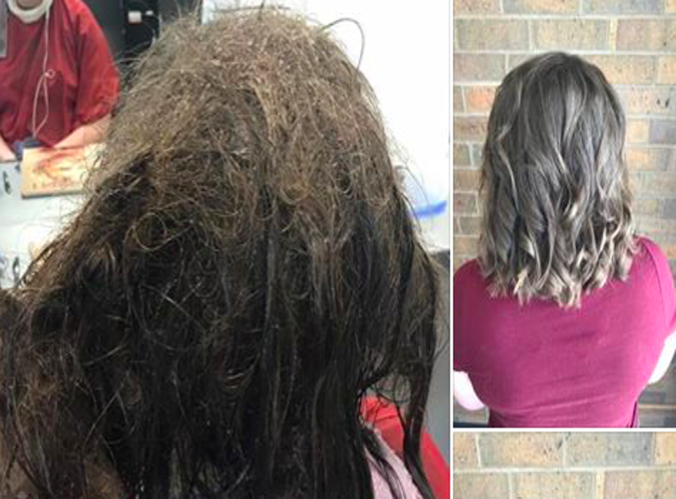 Ms Olsson and her colleague Mariah Wenger, who are both beauty therapy students, refused to cut off her waist-length hair