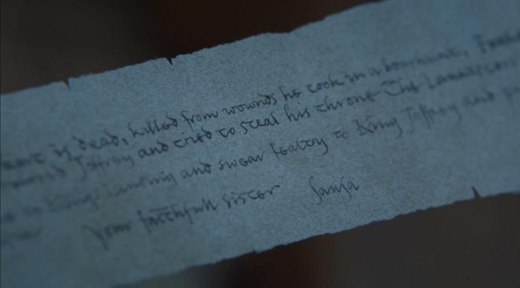Sansas Letter Game Of Thrones Season 7 Episode 5 Eastwatch Twist