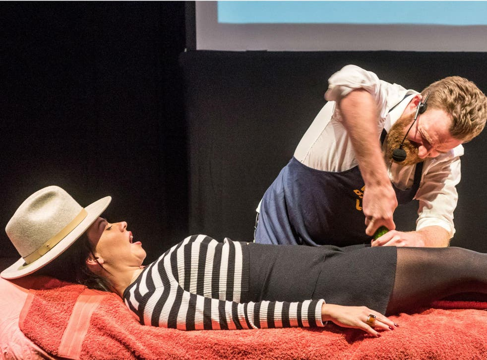 Audience members can stand in as a handjob model in 'Wank Bank Masterclass' at the Edinburgh Fringe