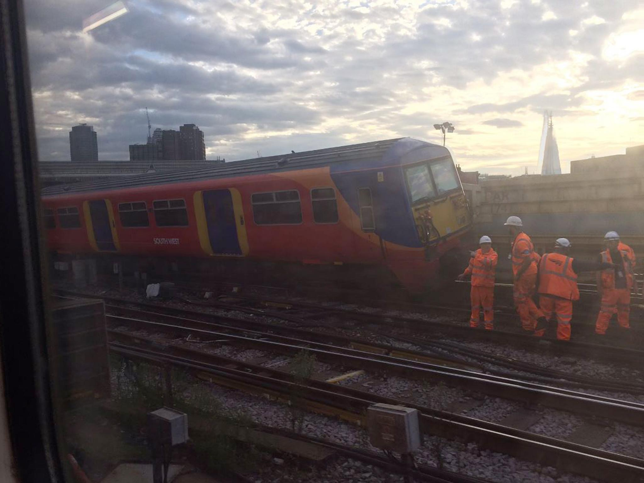 Waterloo train derails in 'operational incident' at London station