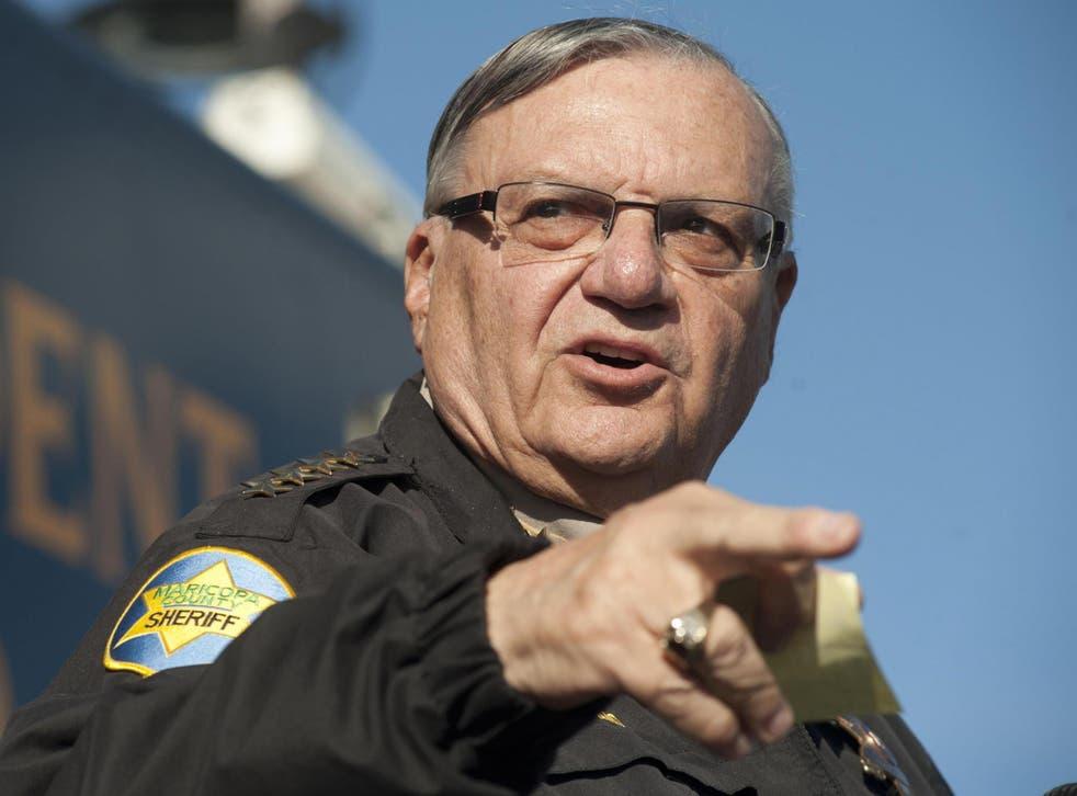 Maricopa County Sheriff Joe Arpaio in Anthem, Arizona, January 2013