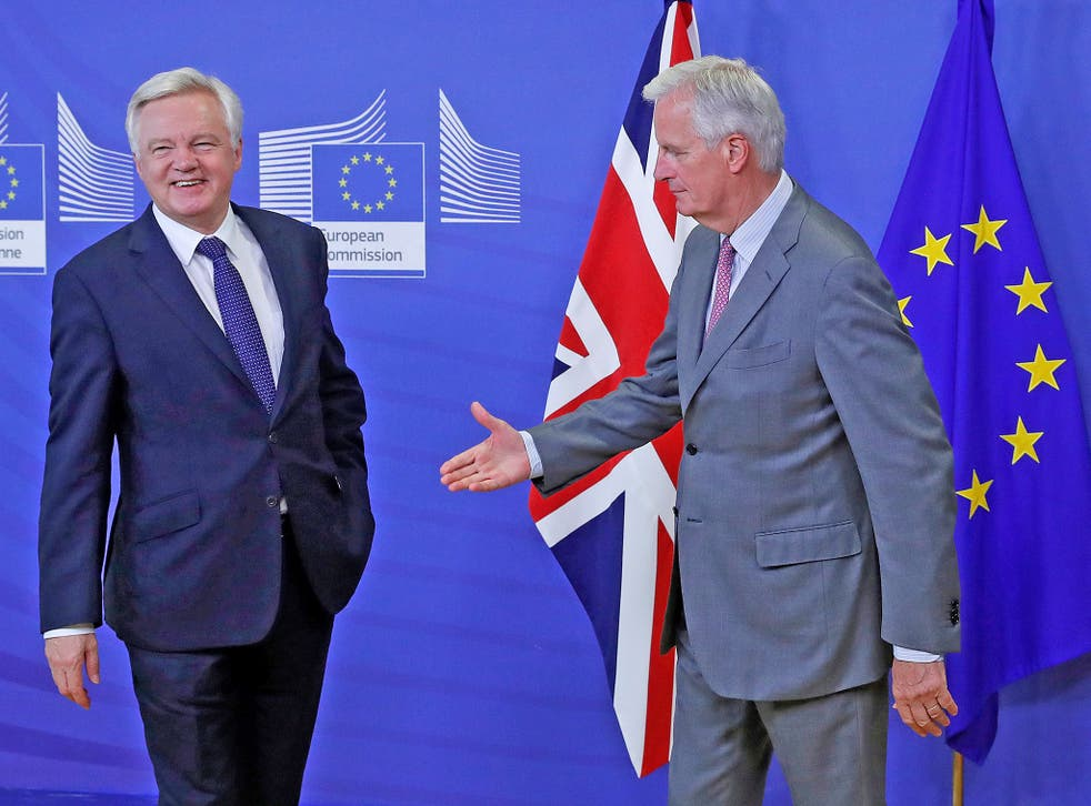 Need a hand? The Brexit Secretary's negotiating strategy still continues to baffle