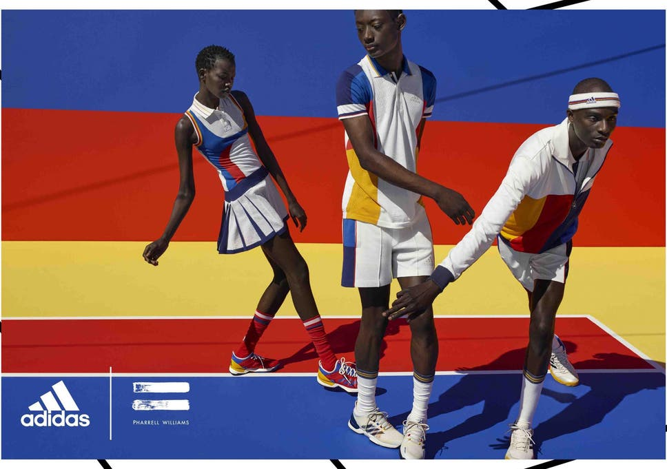 cheap for discount 03248 799a4 Pharrell Williams launches debut Adidas Tennis Collection