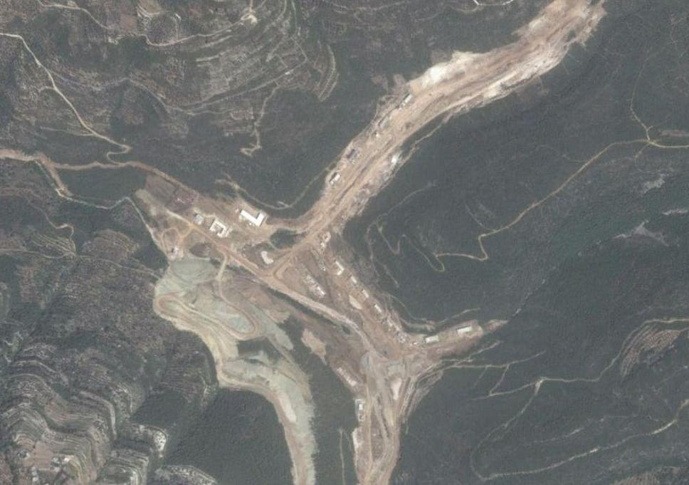The alleged missile site can clearly be