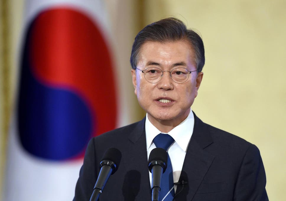 There will not be a war between north korea and us pledges south south korean president moon jae in fandeluxe Image collections