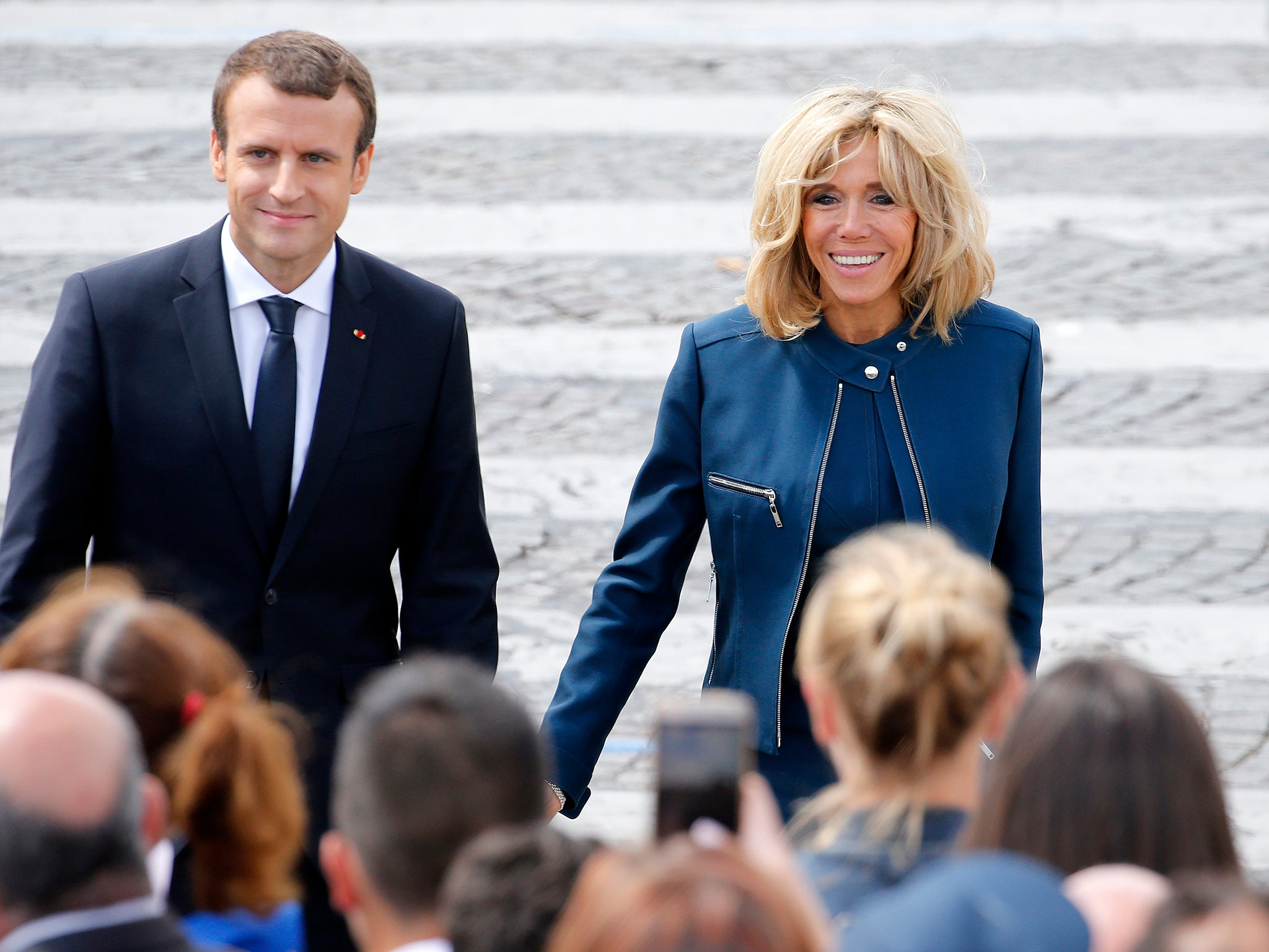 Brigitte Macron On Her Relationship With The French President Emmanuel S Only Fault Is To Be Younger Than Me The Independent The Independent