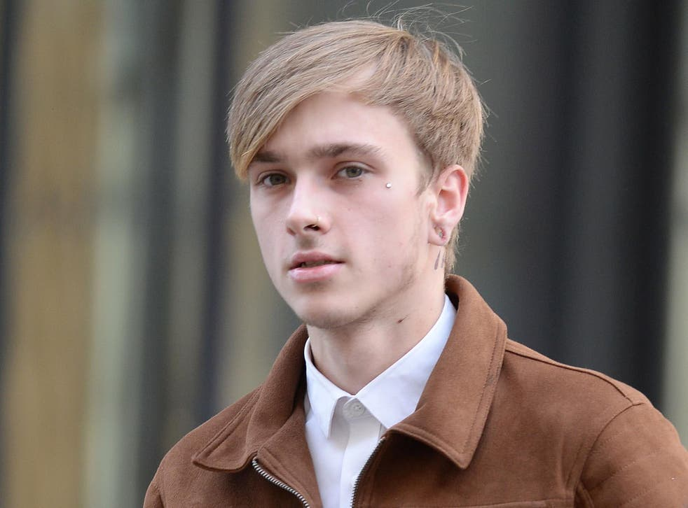 Charlie Alliston, 20, arrives at the Old Bailey in London, where he is accused of running over and killing mother-of-two Kim Briggs in Old Street, east London, on February 12 last year