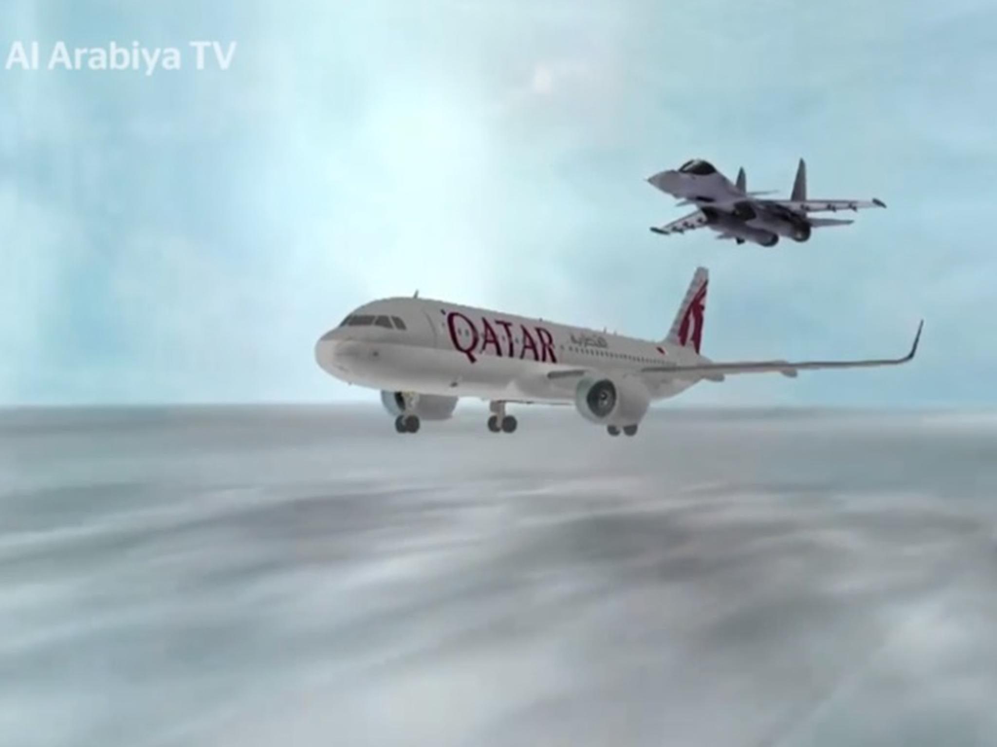 Fears grow as video shows Saudi fighter jet firing missile at a Qatari civilian aircraft