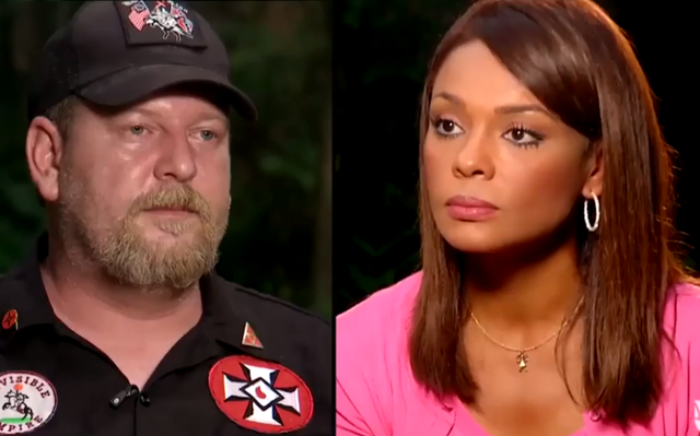 """KKK member Chris Barker called journalist Ilia Calderon a """"n**ger"""" and a """"mongrel"""" in her interview with him for Latino media outlet Univision"""