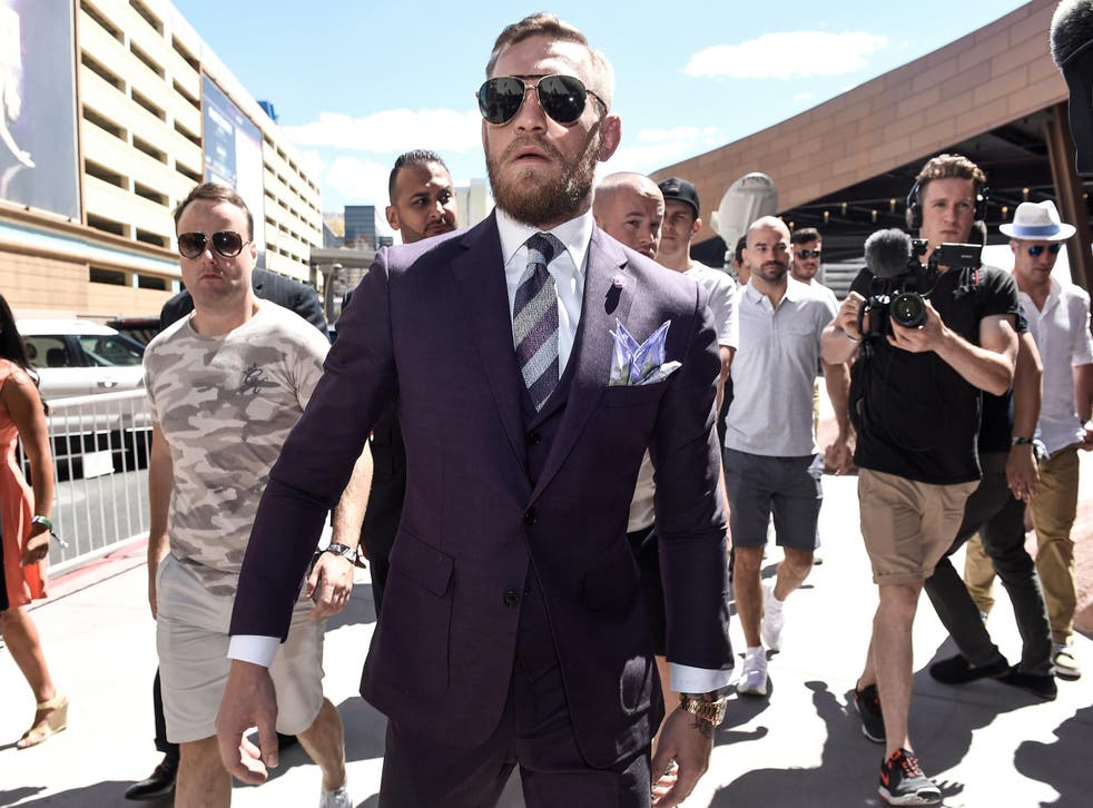 Things were relatively calm ... until McGregor walked onto the scene