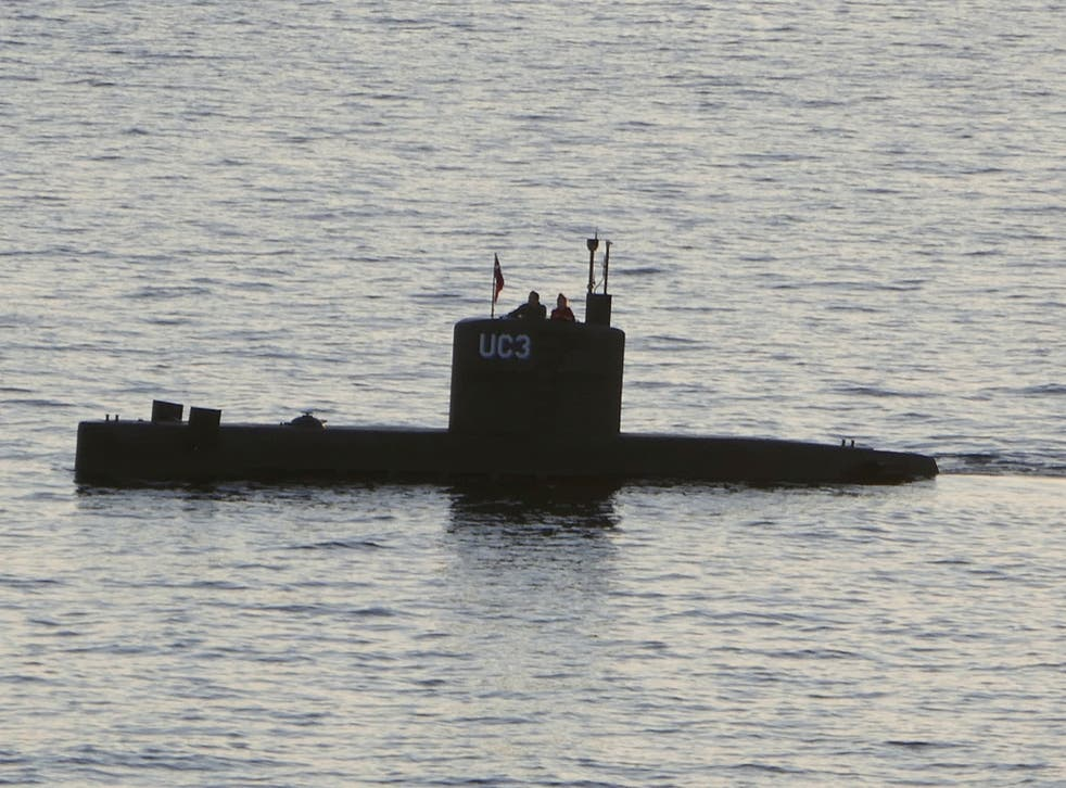 The homemade submarine 'UC3 Nautilus', built by Danish inventor Peter Madsen, who is charged with killing Swedish journalist Kim Wall