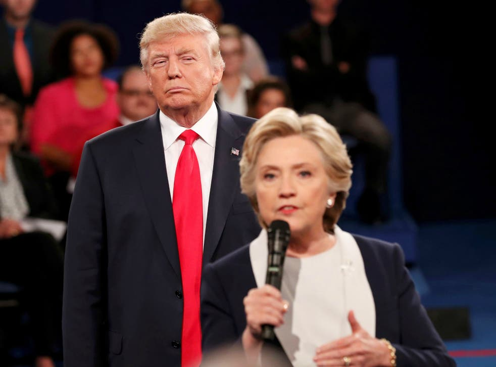 Only 40 per cent of those who voted Trump said they hoped to see a woman take charge of the US