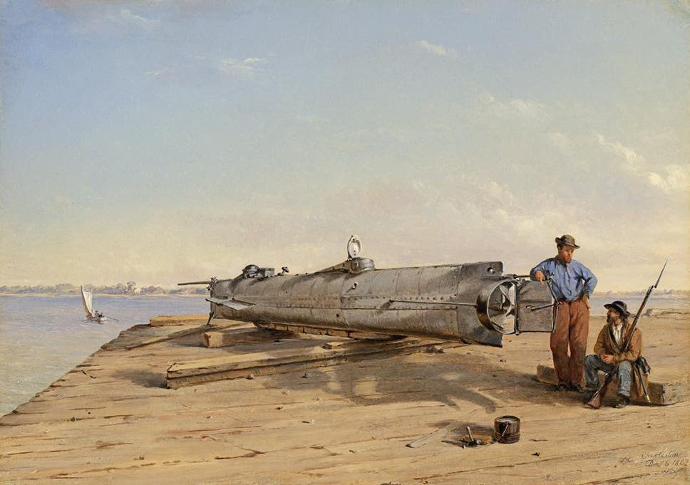 Notorious Confederate Submarine That Sank Union Ship Was Destroyed