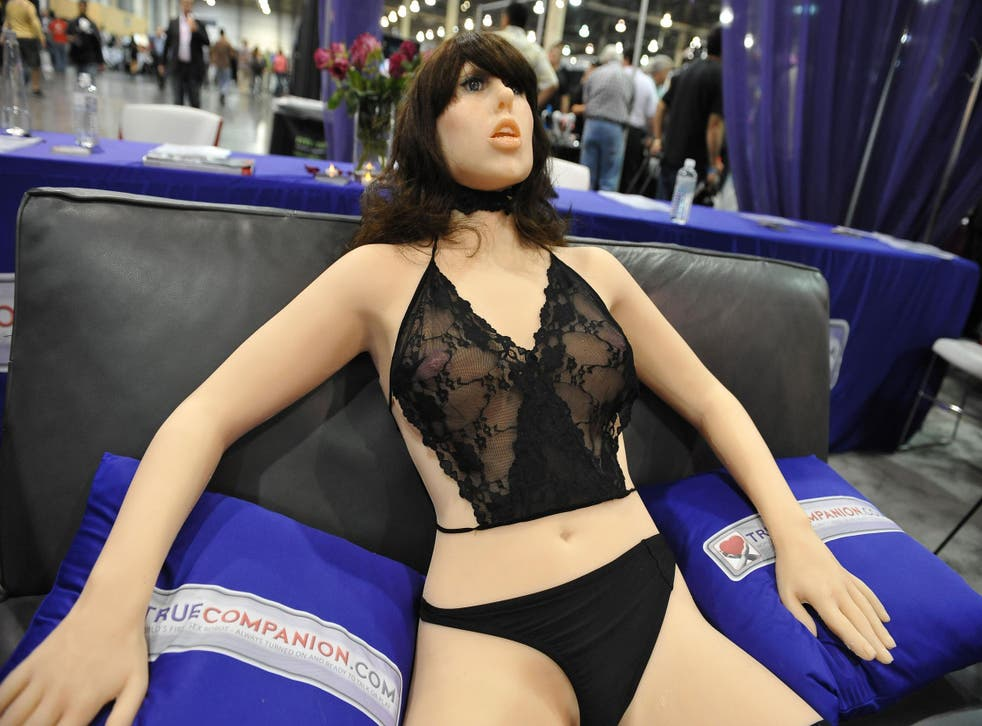 An earlier version of the True Companion sex robot, Roxxxy, on display at the TrueCompanion.com booth at the 2010 AVN Adult Entertainment Expo in Las Vegas