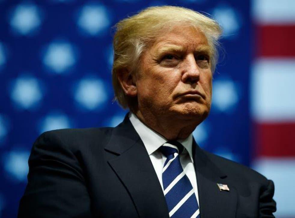 Donald Trump in pensive mood