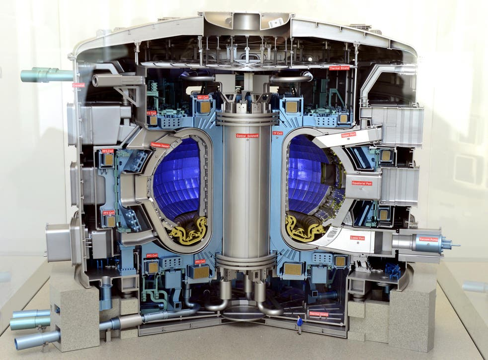 A model of the future Iter nuclear reactor that EuroFusion is helping to build