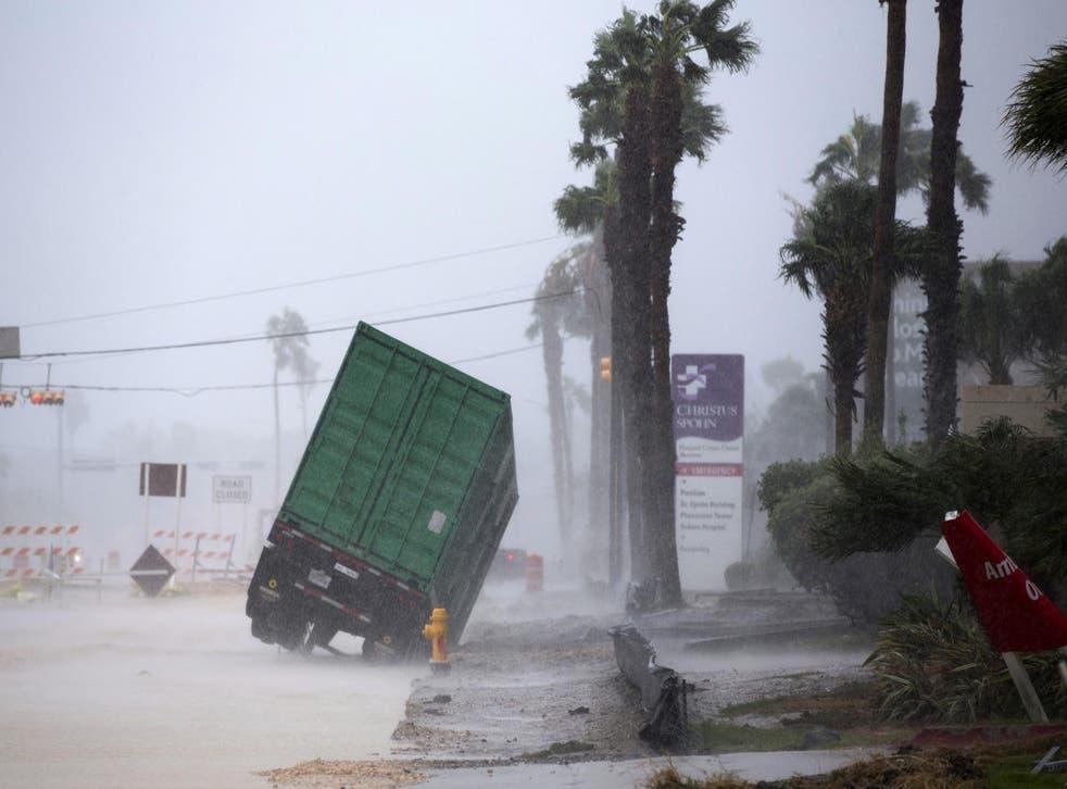 Hurricane Harvey causes havoc in Corpus Christi, Texas