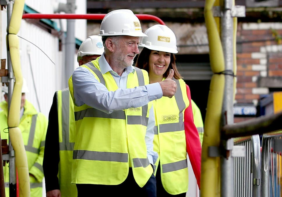 Dugdale with Labour leader Jeremy Corbyn during
