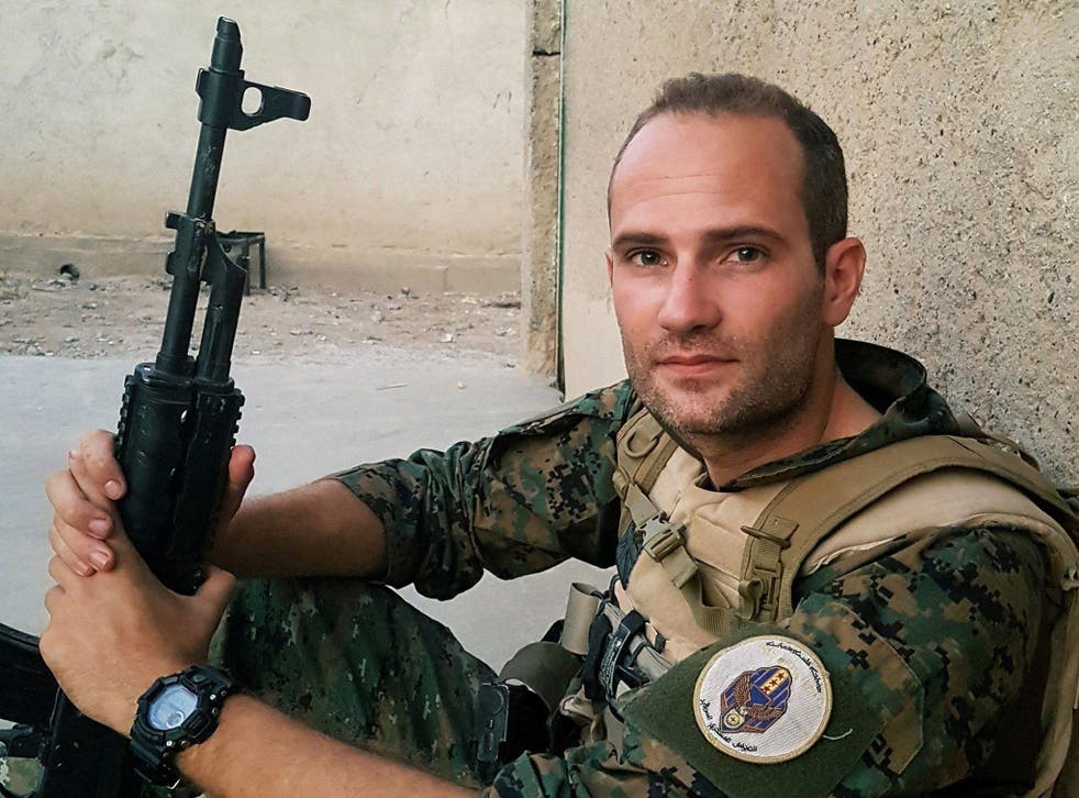 Macer Gifford, a British volunteer fighting against Isis in Syria