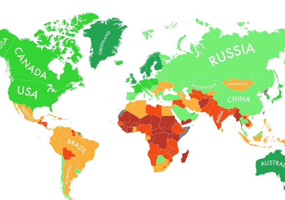 The countries most likely to survive climate change in one ...