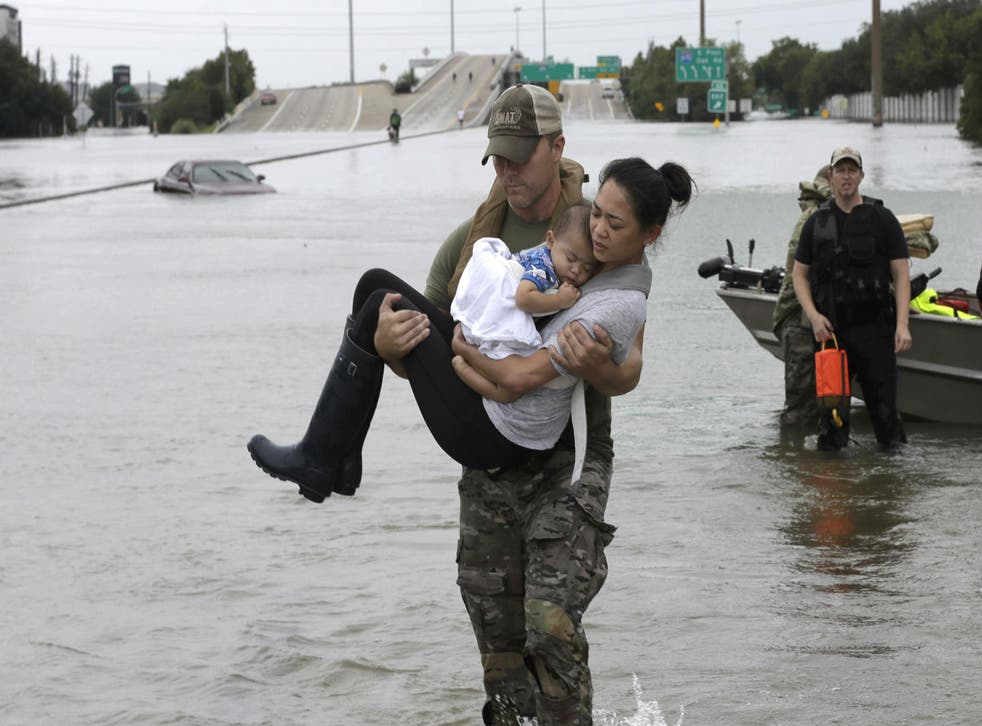 Police rescued at least 1,000 people, while others saved themselves