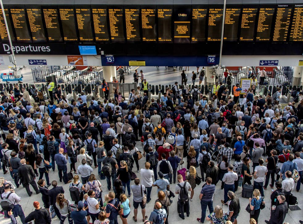 Waterloo is one of the stations affected as South Western Railway workers join the strikes on Thursday