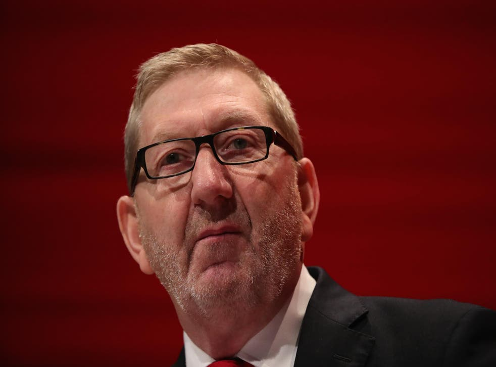 'We are within touching distance of power. That should dominate their thoughts, not nit-picking on issues where they have differences with the leader', Len McCluskey told The Independent