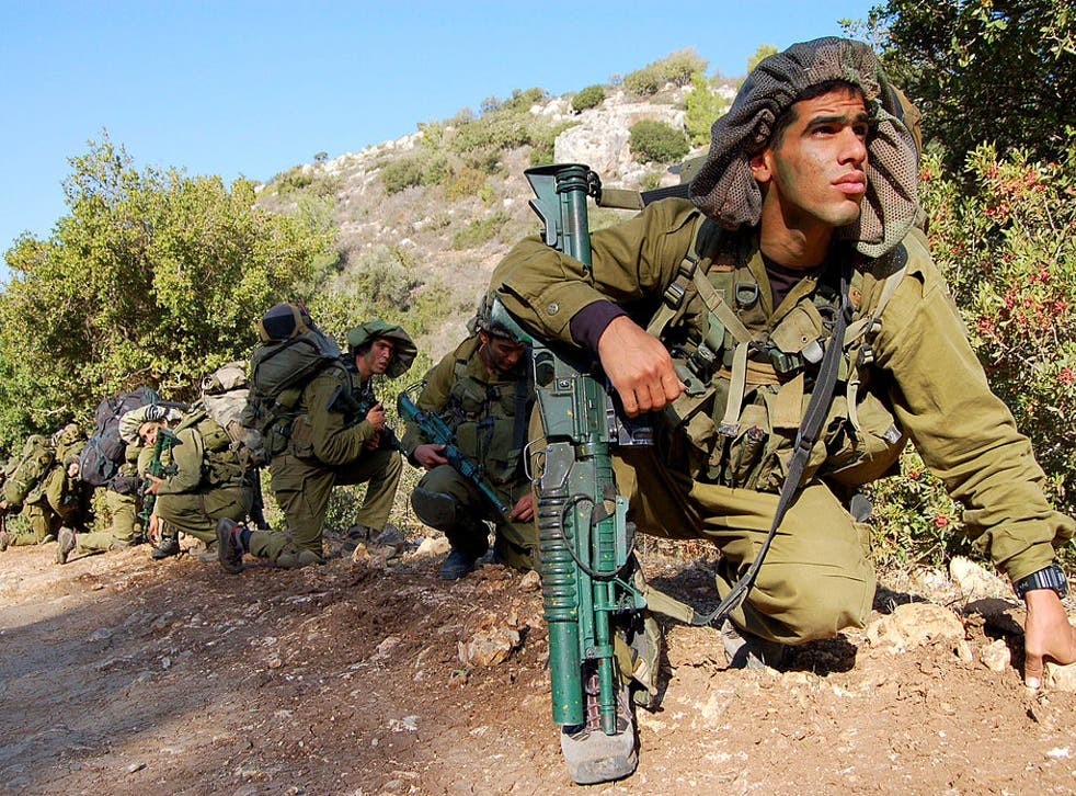 Israeli soldiers in the Golan Heights, where Ms Patel suggested potential UK financial support for the country