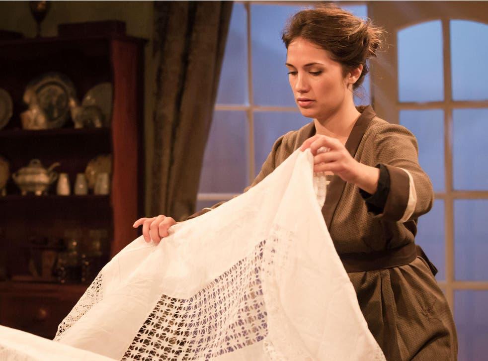 Charlotte Brimble as Faith in 'Windows' at the Finborough Theatre