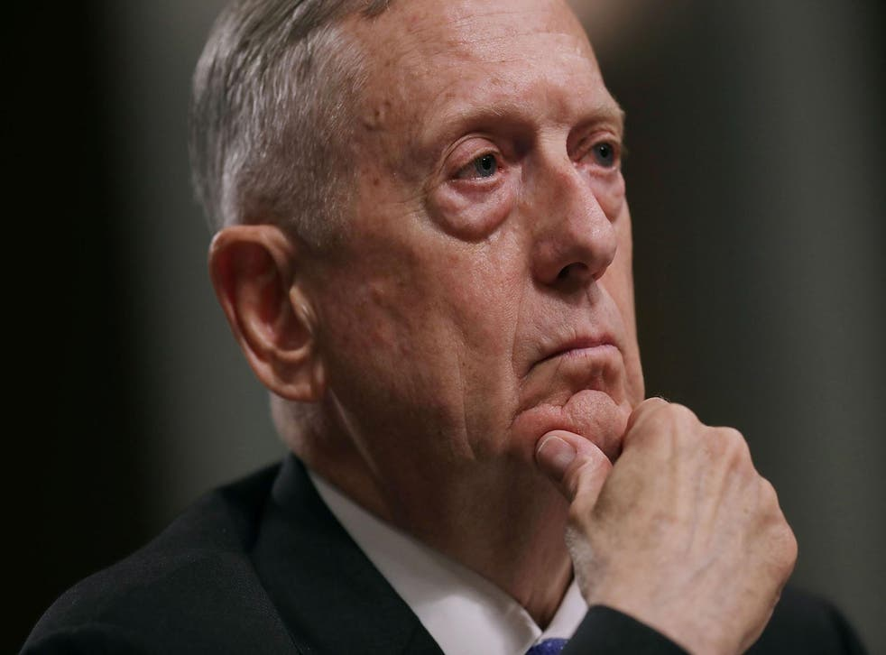US Defence Secretary James Mattis testifies before the Senate Armed Services Committee in June