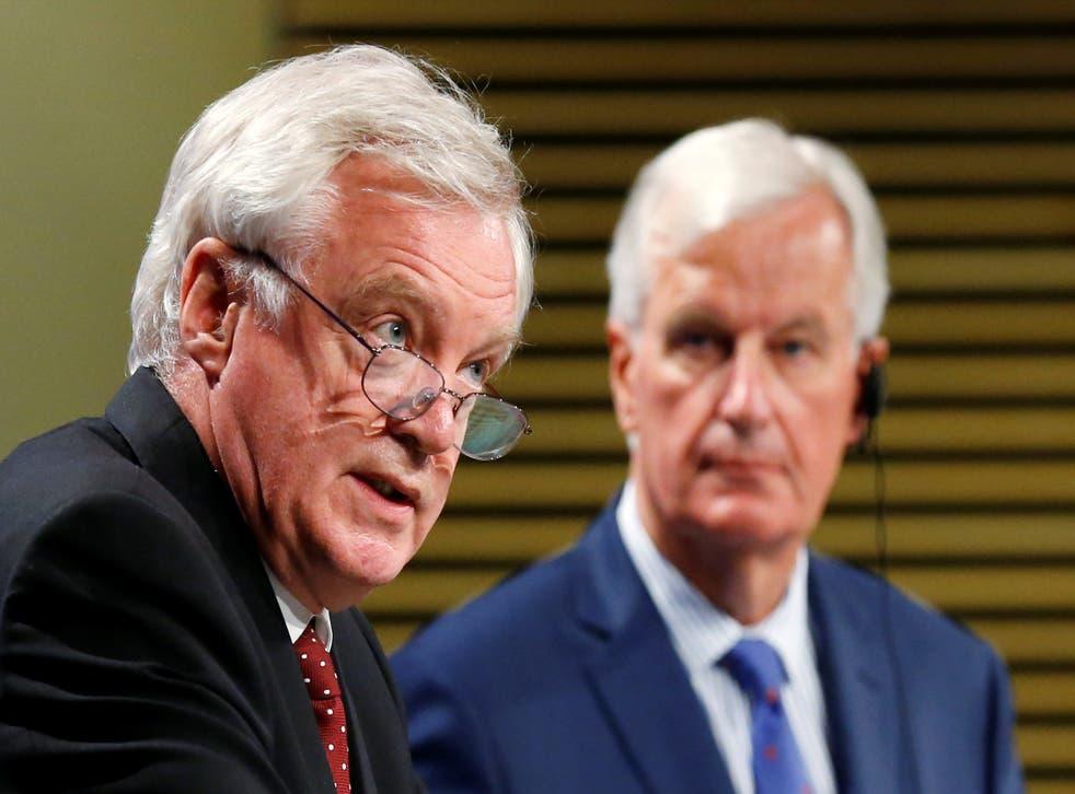 "David Davis said Michel Barnier had ""looked silly"""