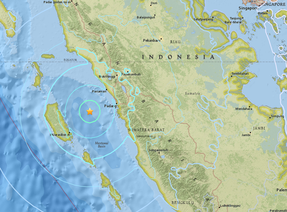 The earthquake measured 6.2 on the Richter scale and could be felt as far away as Singapore