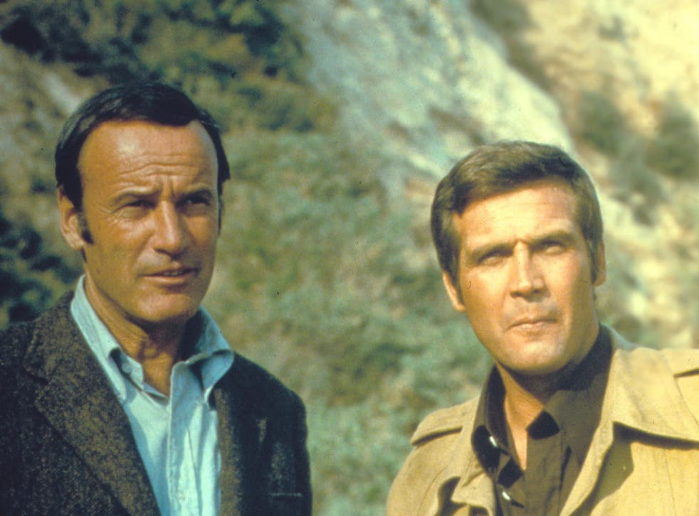 Richard Anderson (right) in The Six Million Dollar Man alongside Lee Majors (left) in 1973