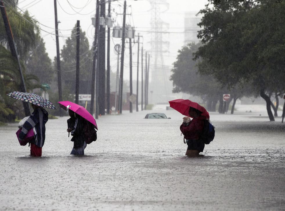 Tens of thousands were forced to leave their homes after Storm Harvey