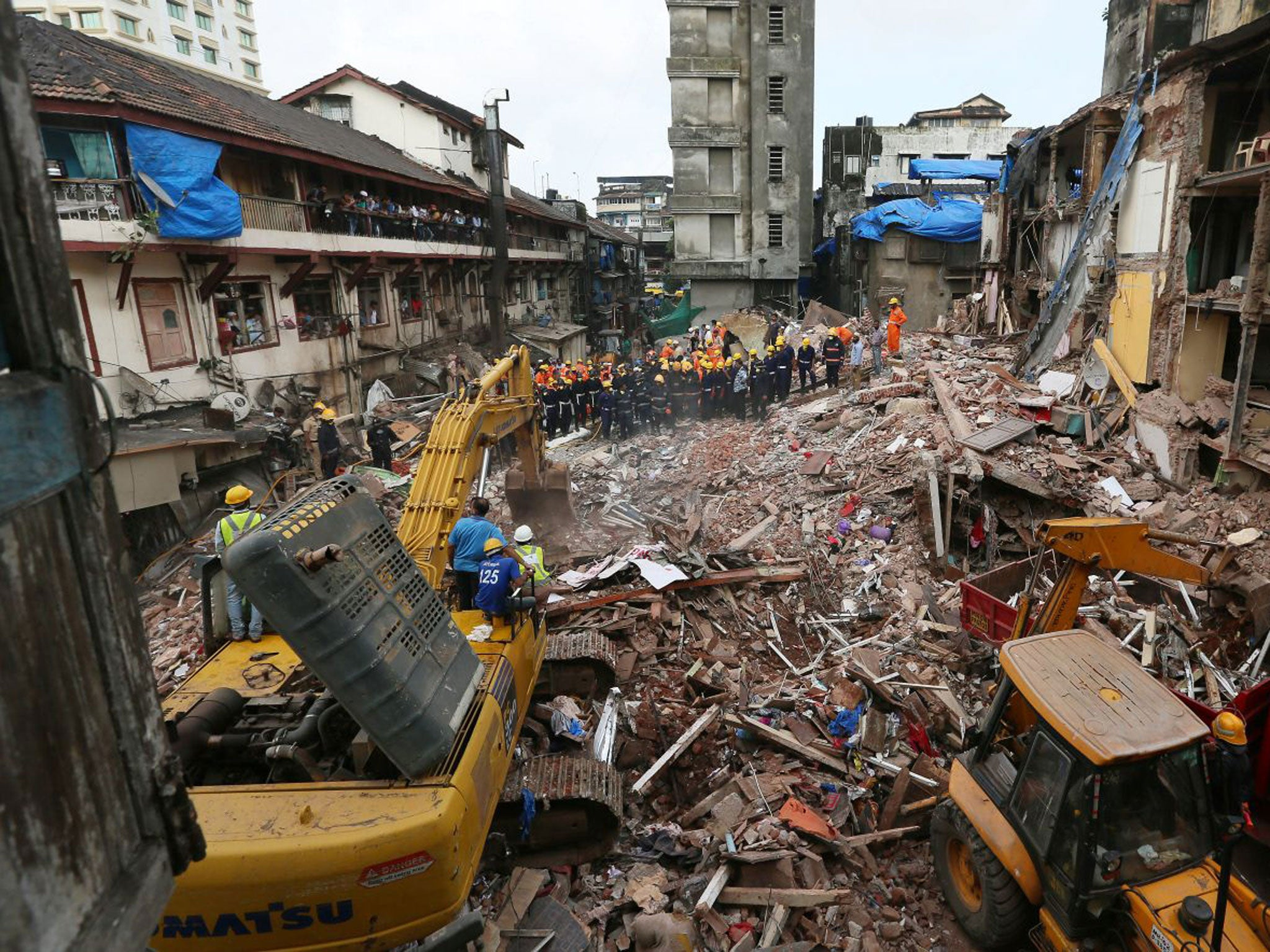 Image result for hussain building collapsed mumbai