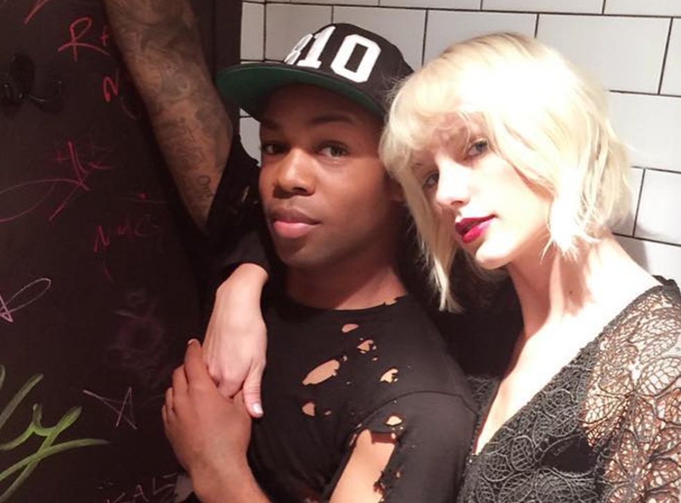 MTV/YouTube star, dancer and recording artist Todrick Hall with friend and collaborator Taylor Swift