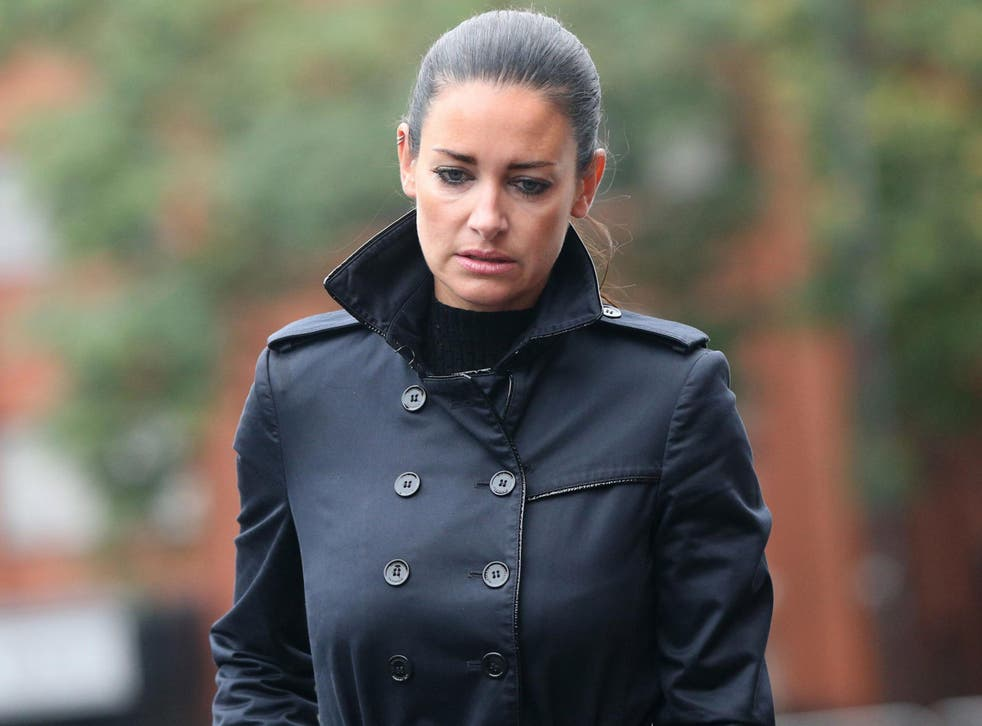 Sky Sports presenter Kirsty Gallacher arrives at Slough Magistrates' Court