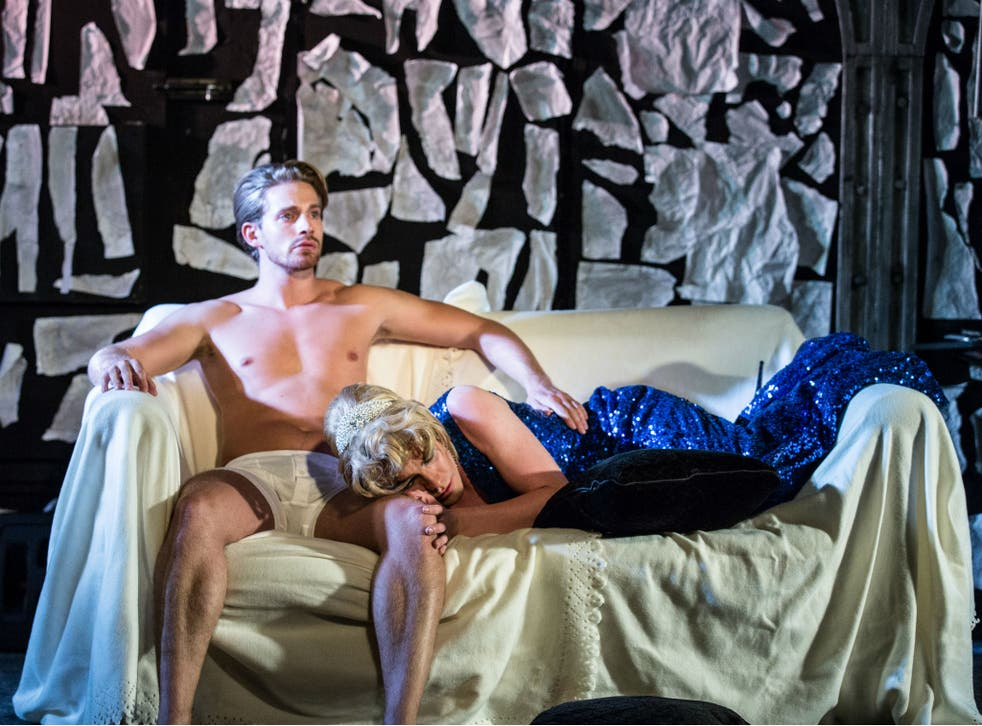 Elliot Balchin and Alex Marlow in 'Outlaws to In-Laws' at the King's Head Theatre