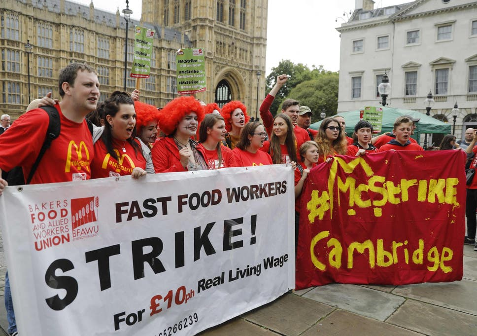 No wonder low-paid workers have gone on strike – the Tories are