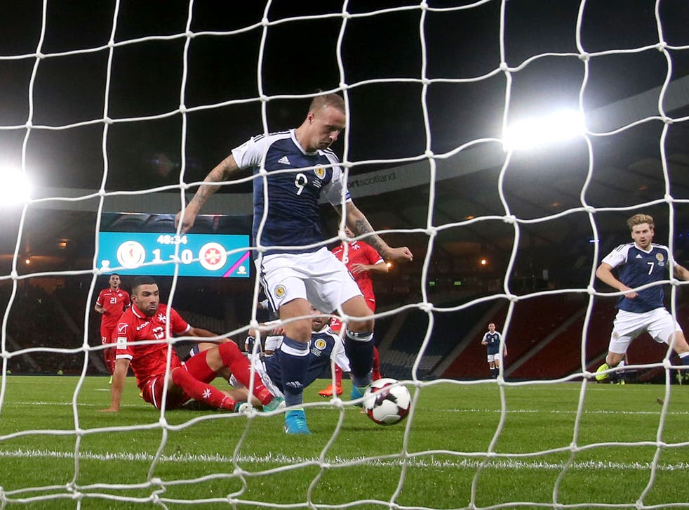 Leigh Griffiths was on hand to double Scotland's lead