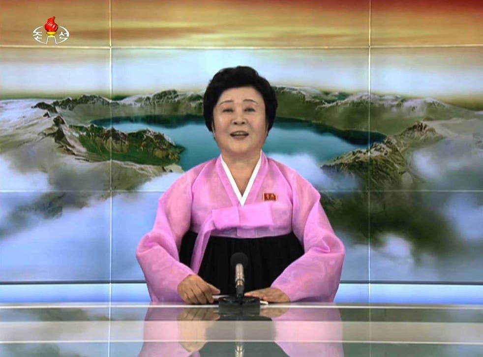 Ri Chun-hee broadcasting on North Korea TV