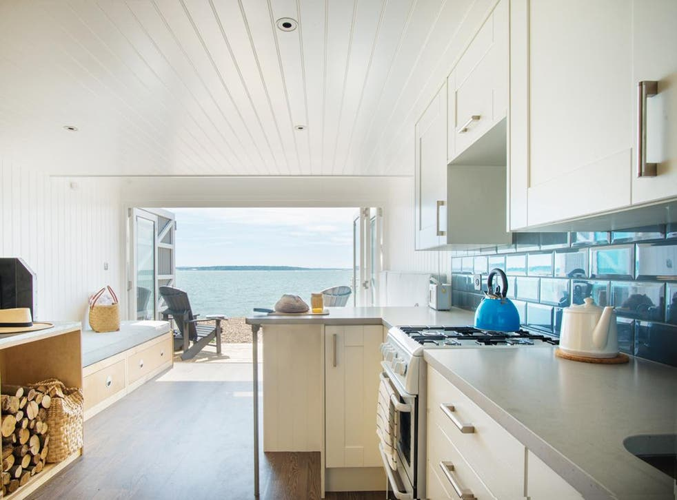 The cabins are twice the size of a traditional beach hut
