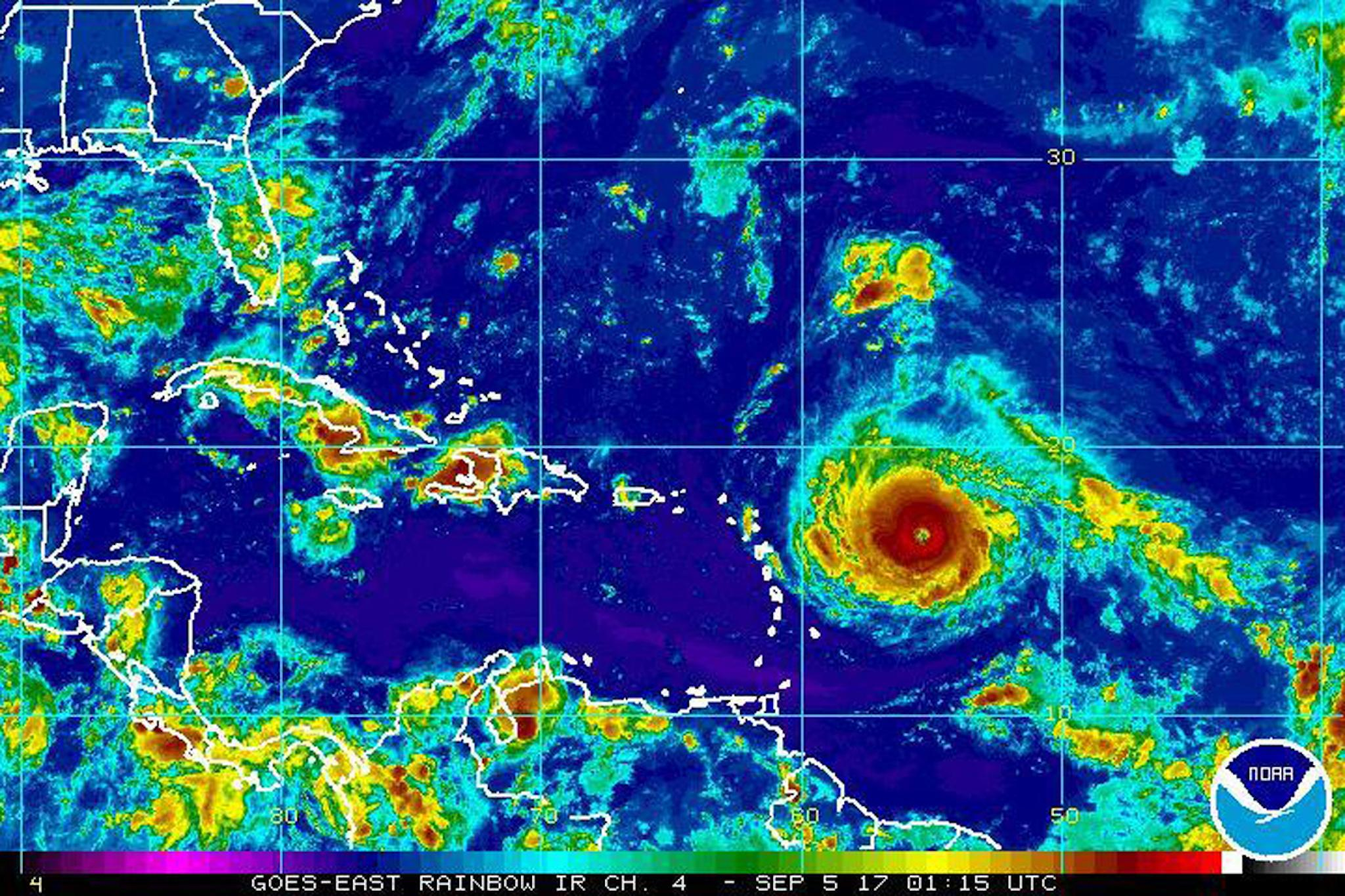 Hurricane Irma has become so strong it's showing up on seismometers used to measure earthquakes