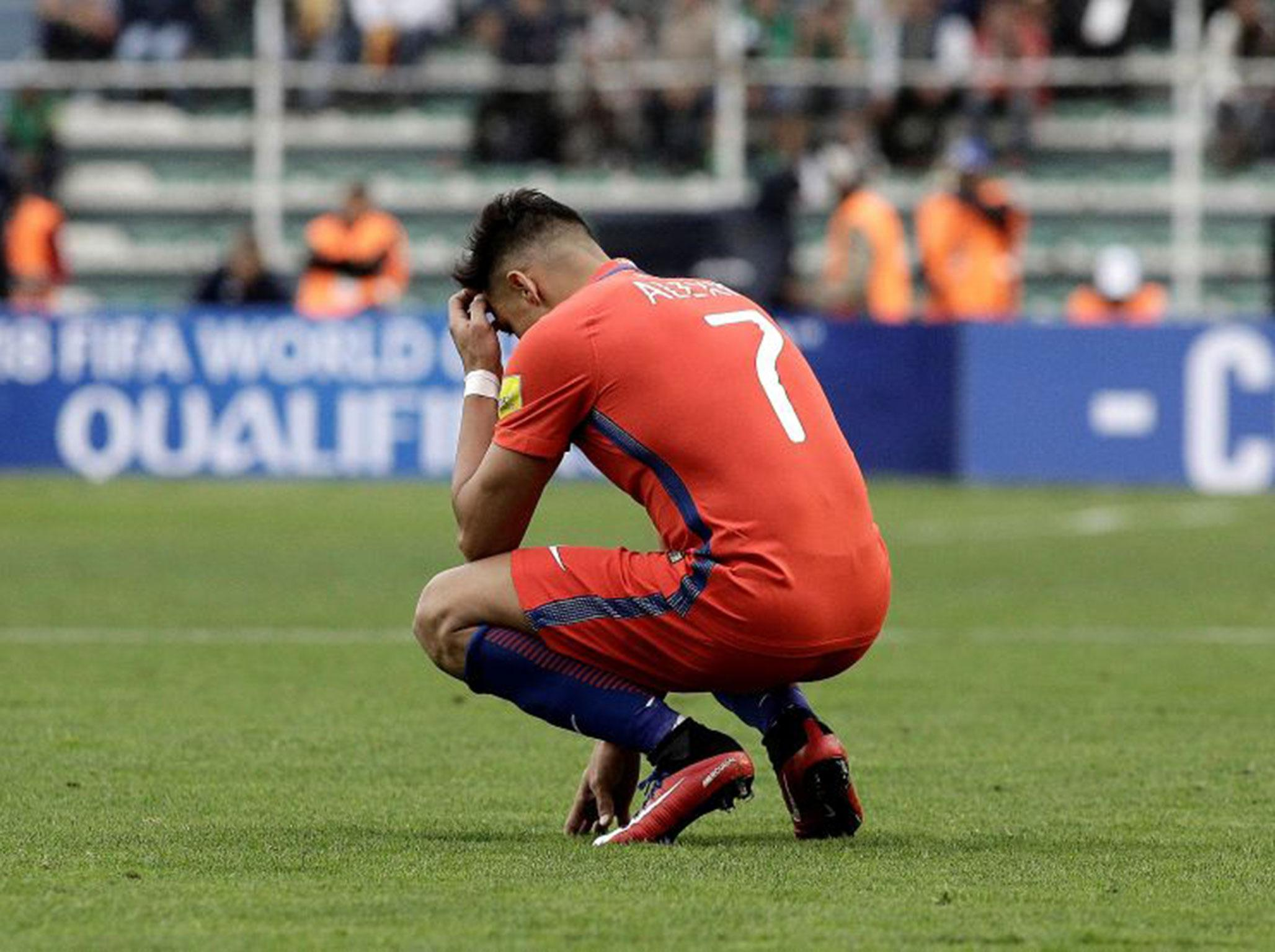 Alexis Sanchez 'tired of criticism' as Chile's World Cup qualification woes add to Arsenal troubles