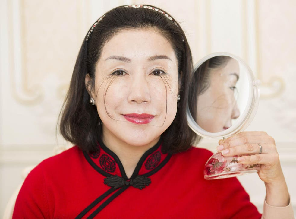 You Jianxia, whose phemomenal eyelashes landed her a place in the latest edition of Guinness World Records