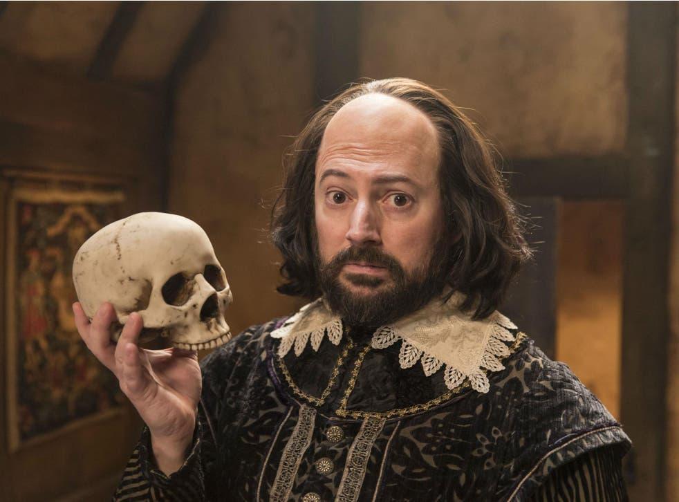 Veteran comic Mitchell reprises the role of the Bard in Elton's new sitcom