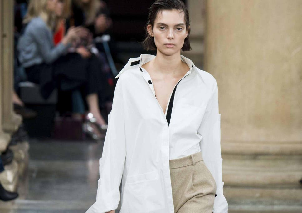 342371c05f0370 Christopher Kane took the white shirt out of the office and placed it in  the factory
