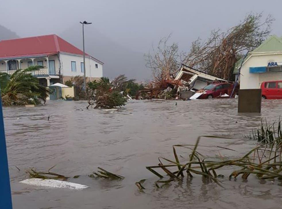 Hurricane Irma slammed into Caribbean islands after making landfall in Barbuda