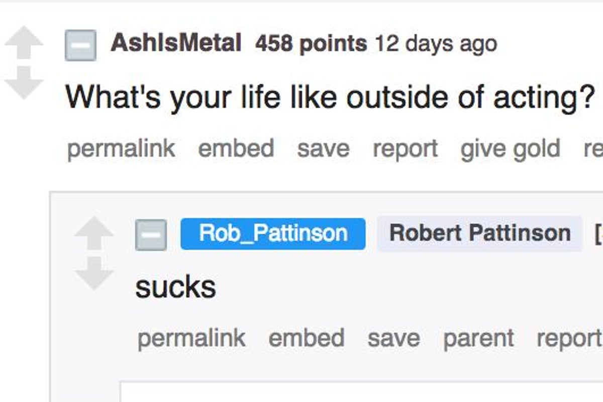 Robert Pattinson S Reddit Ama Was A Rollercoaster Of Emotions The Independent The Independent