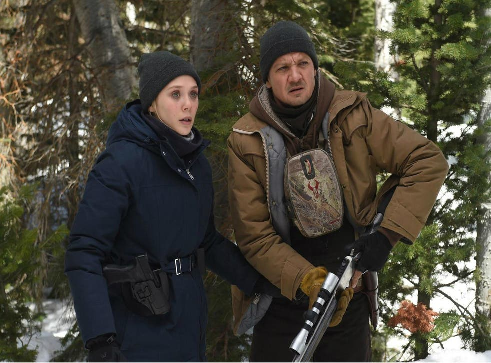 Elizabeth Olsen and Jeremy Renner star in Taylor Sheridan's pensive murder mystery, set in the icy Wyoming wilderness